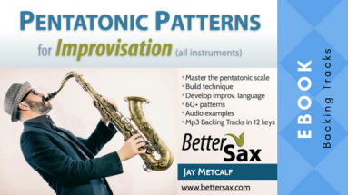 image of Pentatonic Patterns for Improvisation ebook and backing tracks in all keys blog post