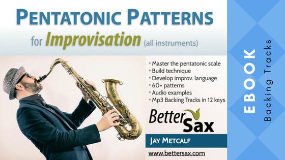 image of Pentatonic Patterns for Improvisation ebook and backing tracks in all keys blog post