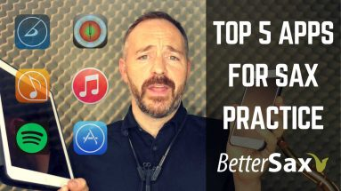 image of Top 5 Apps for Practicing Saxophone blog post