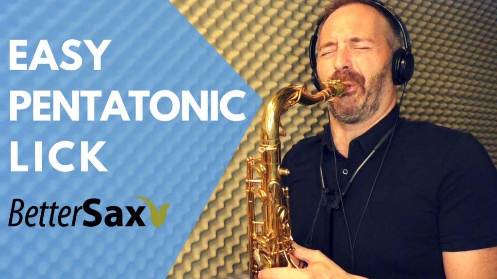 image of Easy Pentatonic Lick for Saxophone blog post