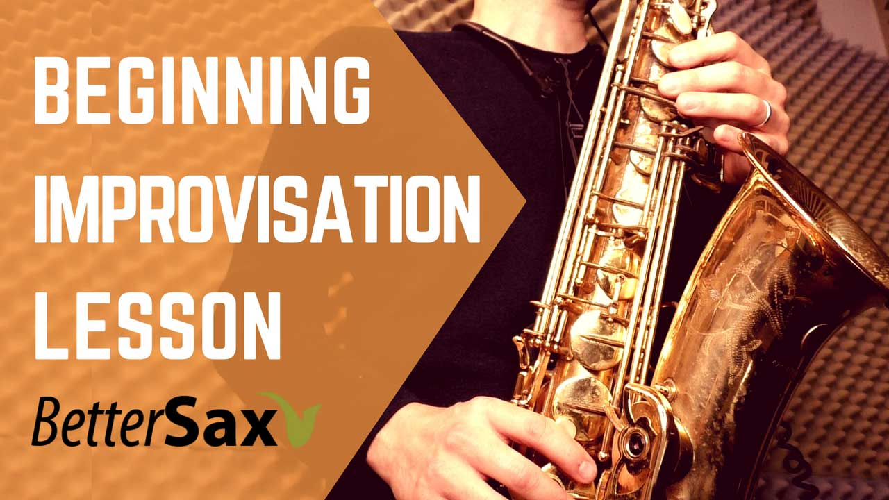 image of Beginner Saxophone Improvisation Lesson blog post