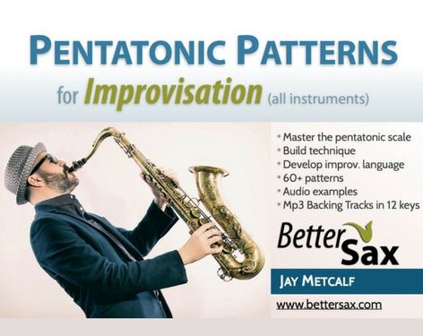 image of Pentatonic Patterns for Improvisation with backing tracks in all keys product on Better Sax