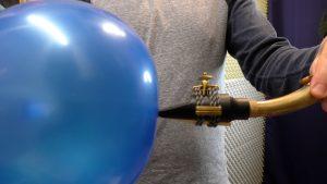 balloon on sax mouthpiece