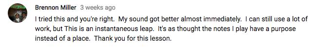 Better Sax Blues Improvisation Lesson comment