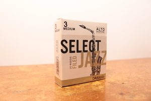 box of d'addario select jazz reeds for alto saxophone