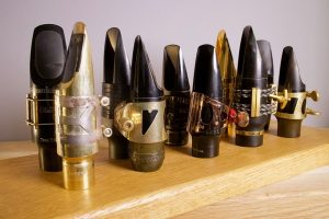 variety of ligatures for saxophone mouthpieces