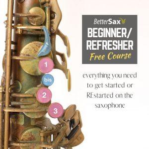 Beginner/Refresher Saxophone Course