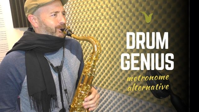 Drum Genius App for saxophone practice