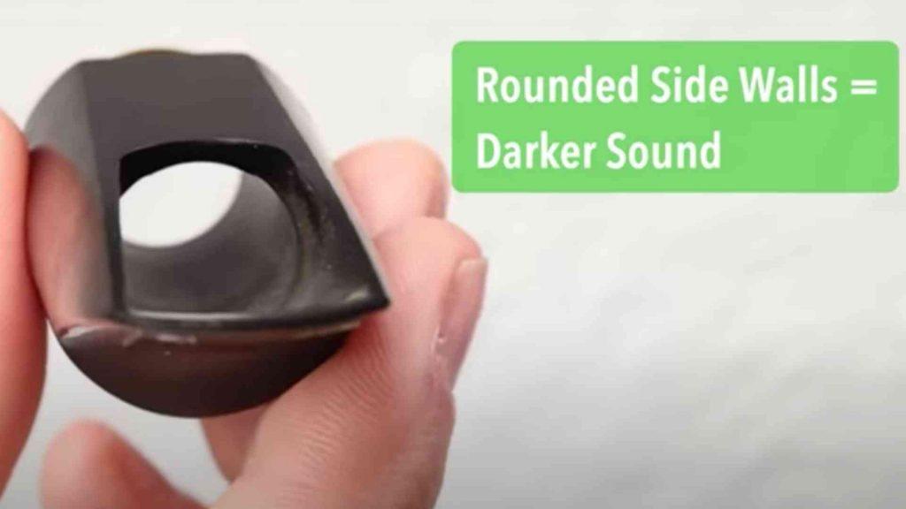 Rounded Sides = Darker Sound
