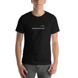 Sax Nerd for Life Hashtag T-Shirt